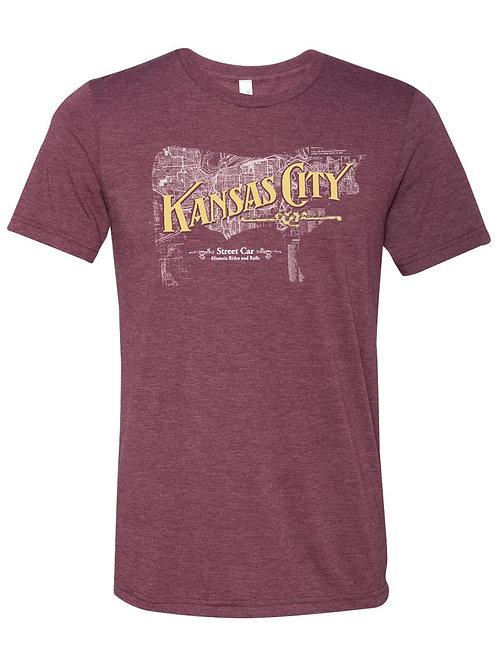 Kansas City Cow Map Tee