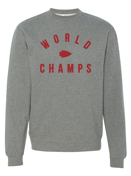 World Champs Crewneck Sweatshirt (Grey and Red available)