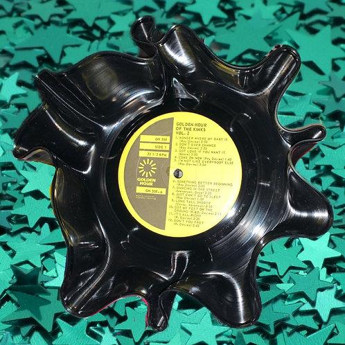 Vintage Kinks Vinyl Record Bowl