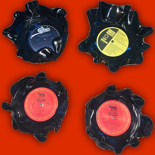 Vintage Vinyl Record Bowls