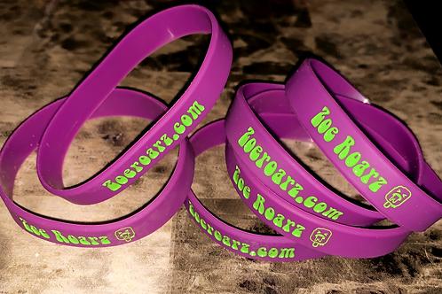 Purple and Green Zoe Roarz Bracelet