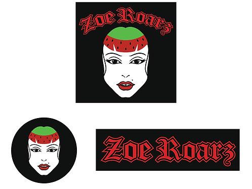 Zoe Roarz Sticker Pack