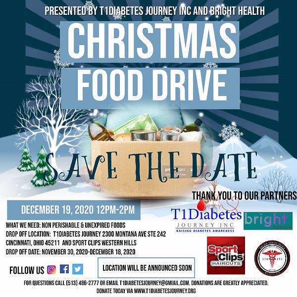 Copy of Christmas Food Drive Poster - Ma