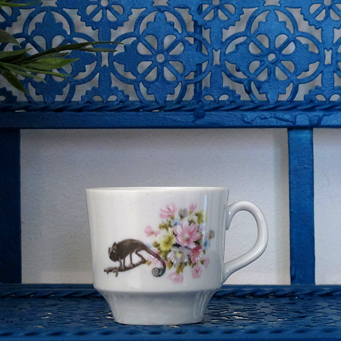 Tasse Cameleon and Flowers