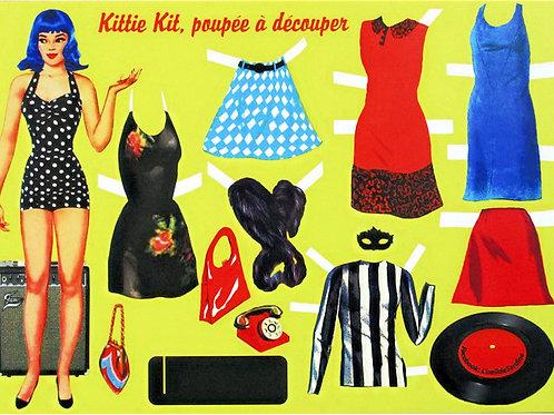 Kittie kit, poupée à découper ou impression à suspendre A4
