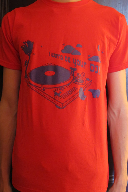 "T-shirt ""I wanna be your DJ"""