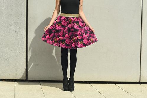 Podzimní sukně s růžemi