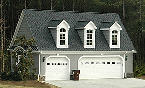 Custom built garage in Greensboro by NC Garage Builders.