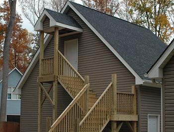 NC custom garage staircase
