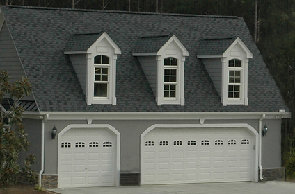 Custom garage building in North Carolina.