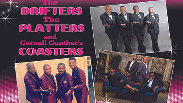 The Drifters, The Platters and Cornell Gunther's Coasters