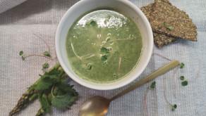 Nydelige suppe av brennesle