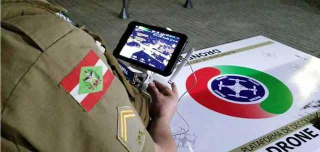 Superávit da Oktoberfest é usado para compra de drone para a PM de Blumenau (Imagem: Divulgação)