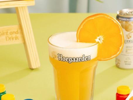 Cerveja Hoegaarden se une a nova edição do projeto Paint and Drink