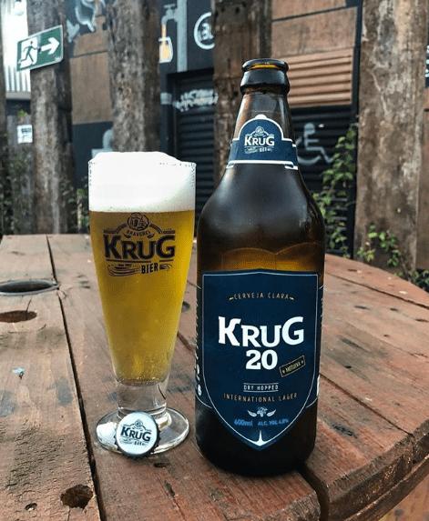 Cerveja Krug 20 agora está disponível em garrafa (Imagem: @Krugbier)