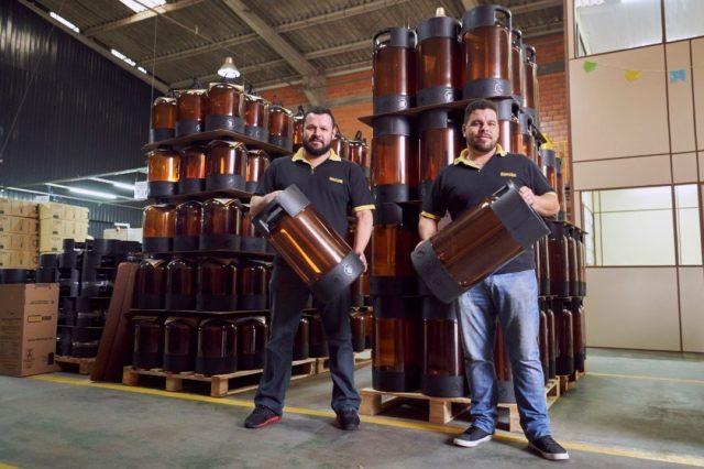 Diretores da Beerkeg Eduardo de Liz e Hamilcar Pizatto Neto (Imagem: Divulgação)