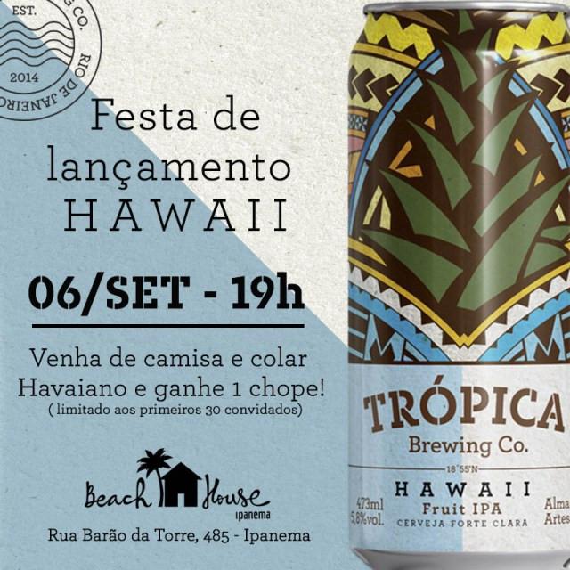 Trópica Hawaii é lançada com suco de Abacaxi