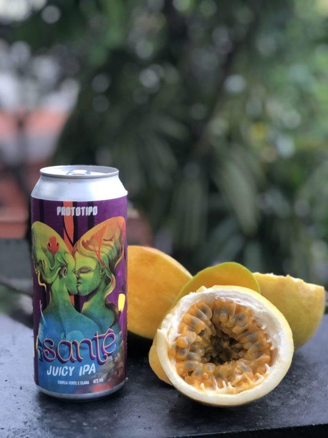 Protótipo Brew acaba de lançar a lata de 473ml da Santê Juicy Ipa (Imagem: Ricardo Fausto)