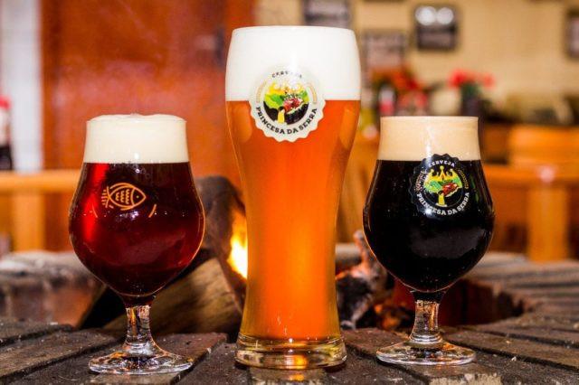 Cervejas produzidas pela Cervejaria Princesa da Serra (Imagem: Divulgação)