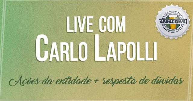 Live com Lapolli acontece amanhã (14) às 19h (Imagem: Reprodução)