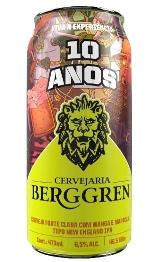 Berggren NEIPA é lançada em lata para comemorar os  10 Anos da cervejaria (Imagem: Divulgação)
