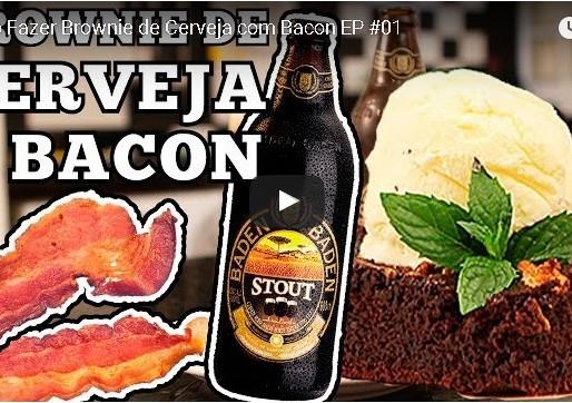 Aprenda a fazer um Brownie de Cerveja e Bacon