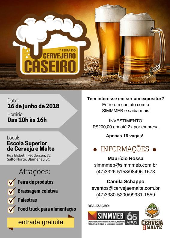 Folder Feira Cervejeiro Caseiro de Blumenau
