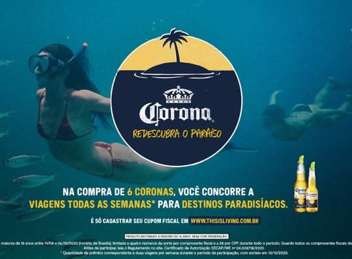 Cerveja Corona sorteia viagens para uso futuro