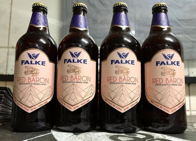 Cerveja Falke Red Baron (Imagem: Divulgação)