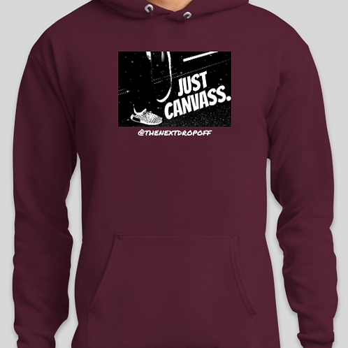 Logo JUST CANVASS Hoodie - Maroon