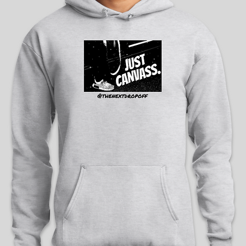 Logo JUST CANVASS Hoodie - Grey