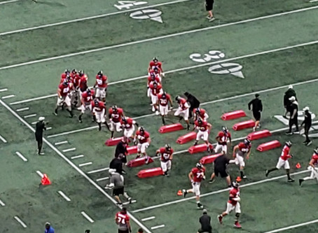 Falcons Practice at Mercedes Benz Stadium