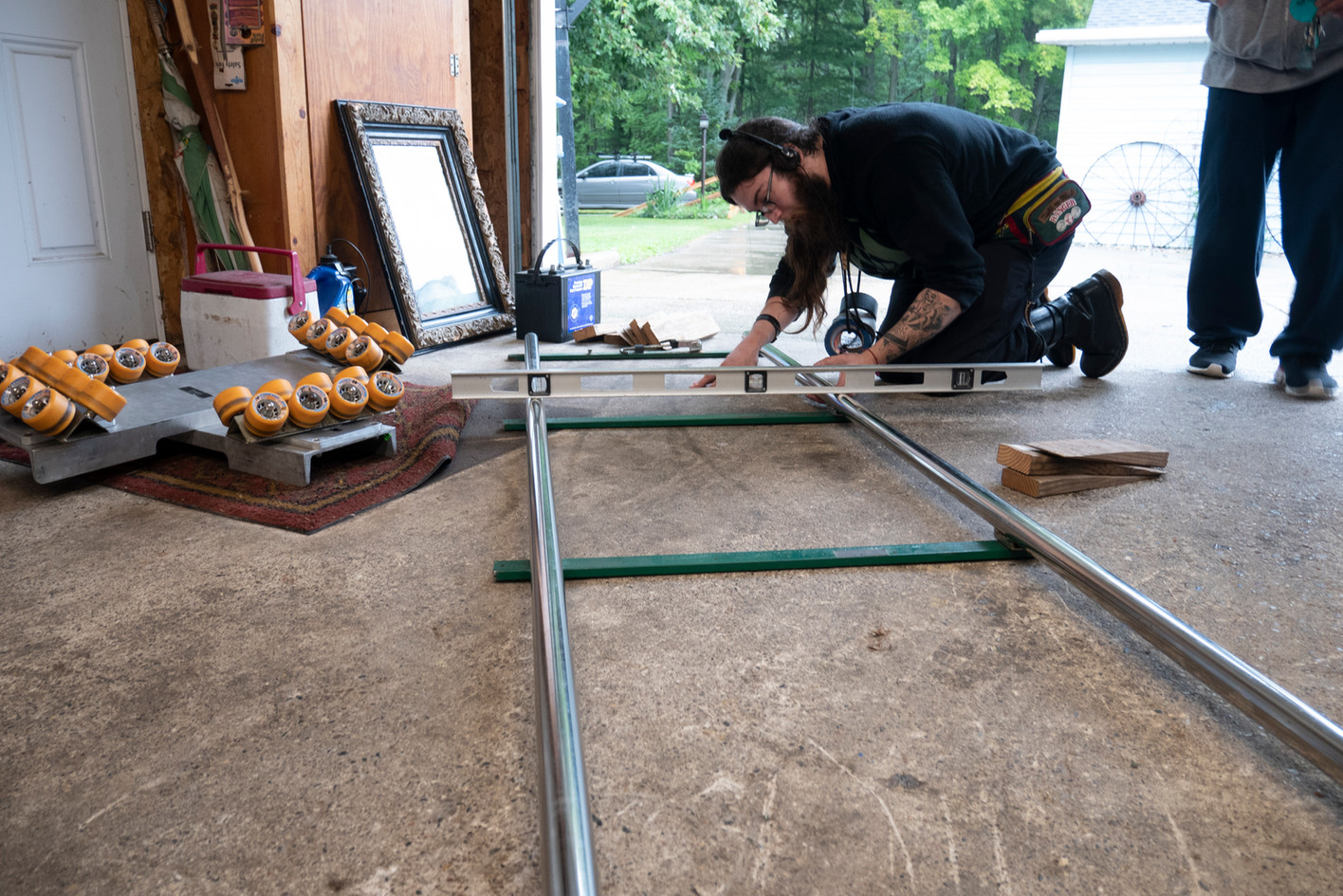 Laying Dolly track
