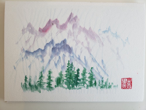 Watercolor Painting-1 Card