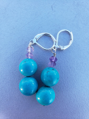 Turquoise and Purple Amethyst