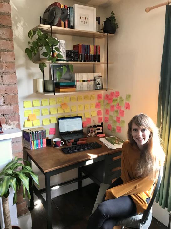 Katherine's work space