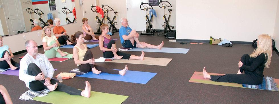 The Tripping Yogi senior yoga class