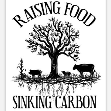 Raising Food Sinking Carbon - Rectangular Stickers