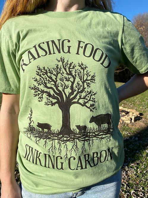 Raising Food Sinking Carbon - Unisex T-Shirt