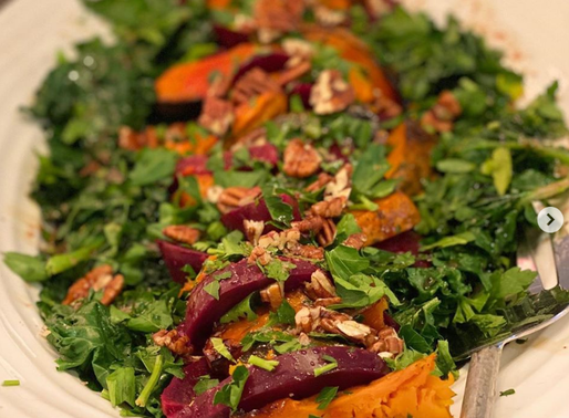 Roasted Beet and Winter Squash Salad