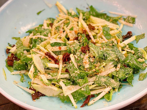 Vegan Kohlrabi Ceasar Salad
