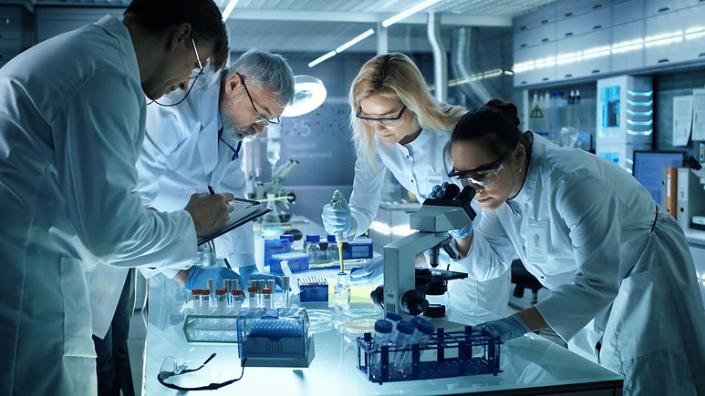 Team of Medical Research Scientists Coll