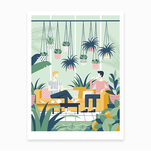 Jungle Cafe Print