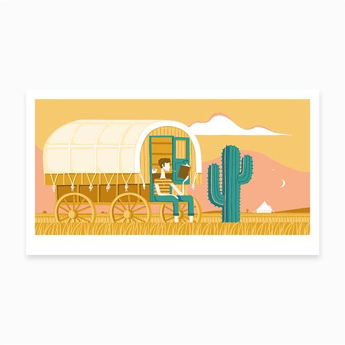 Sheepwagon Print