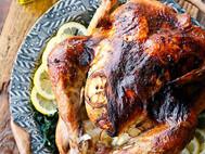 Garlic & Lemon Greek Roasted Turkey