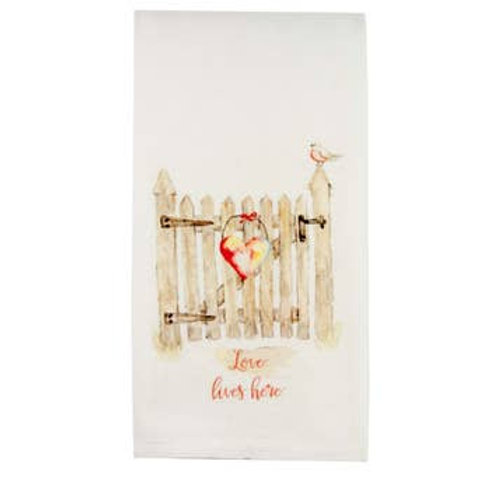 Love Lives Here Kitchen Towel
