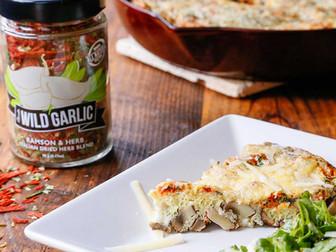 Wild Garlic Mushroom Frittata (baked eggs)