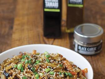Black Garlic Umami Noodles