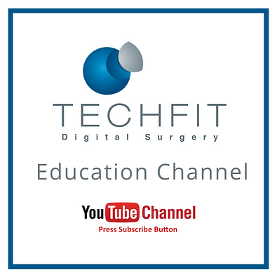 Education Channel Logo inviting to subscribe to Techfit Digital Surgery Youtube Channel