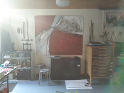 -zicht in atelier-